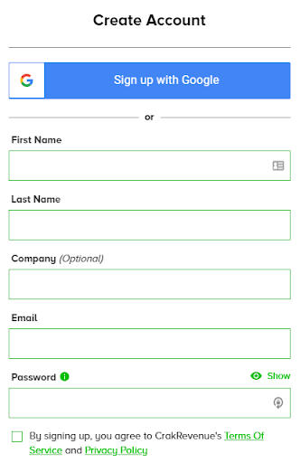 Step 2 - Create your account